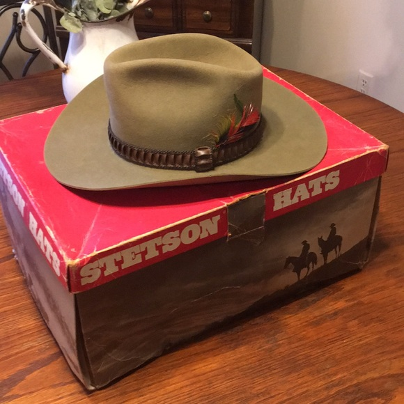 4856ffb0ff63cd Seteson Accessories | Vintage Stetson Long Oval Size 7 Hat | Poshmark